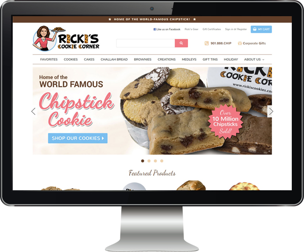Website Design for Ricki's Cookies